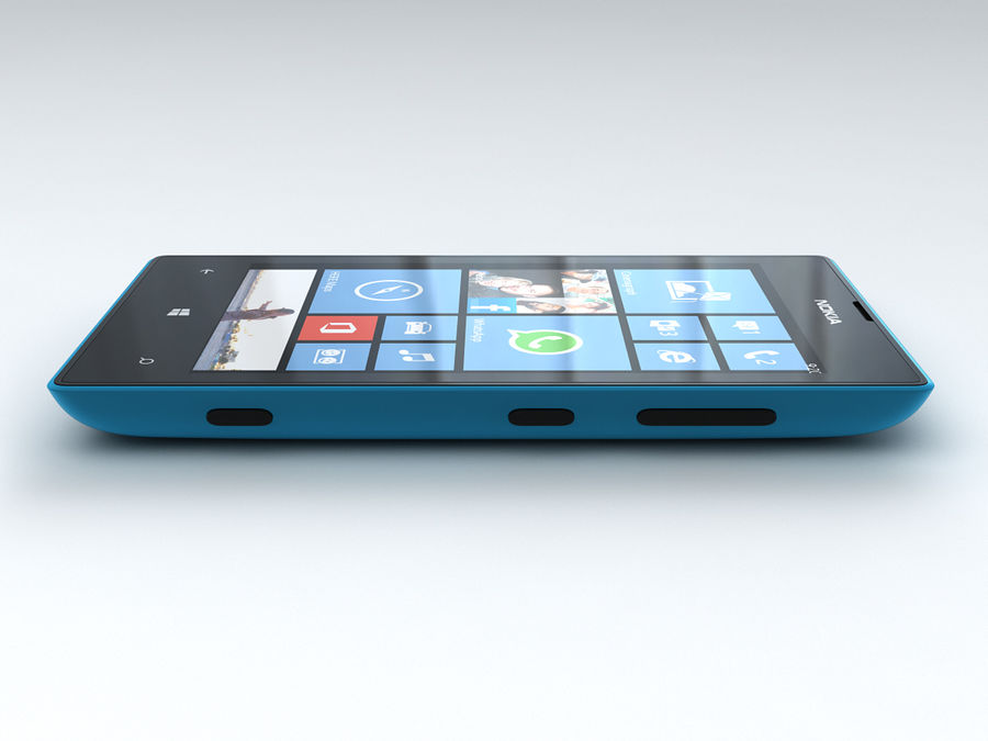 Nokia Lumia 520 royalty-free 3d model - Preview no. 14