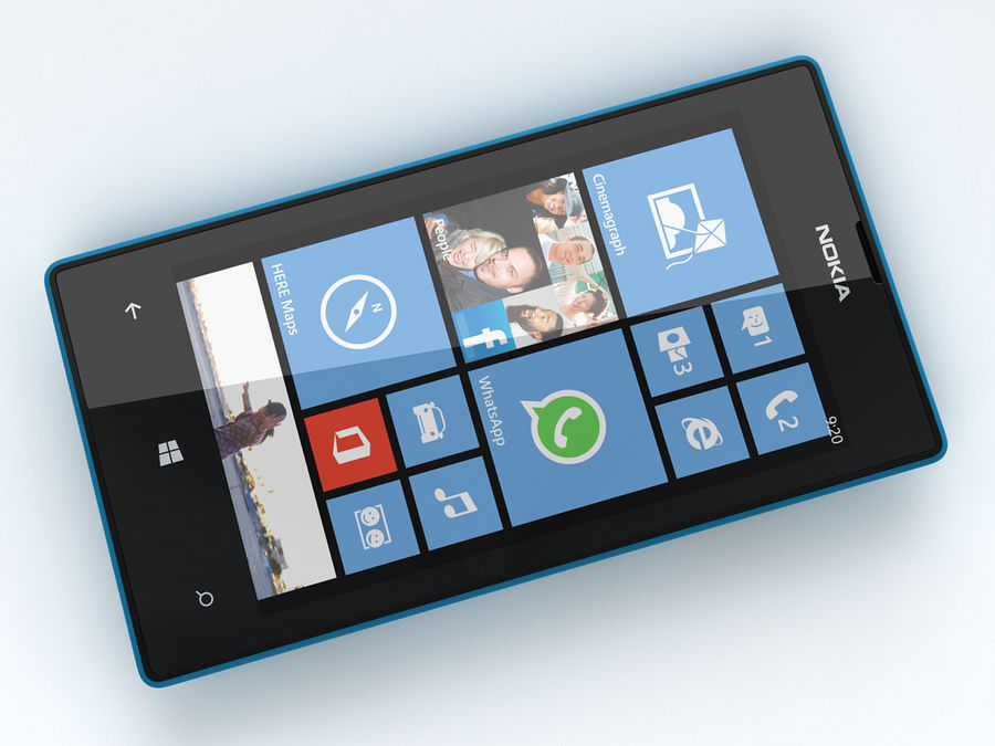 Nokia Lumia 520 royalty-free 3d model - Preview no. 18