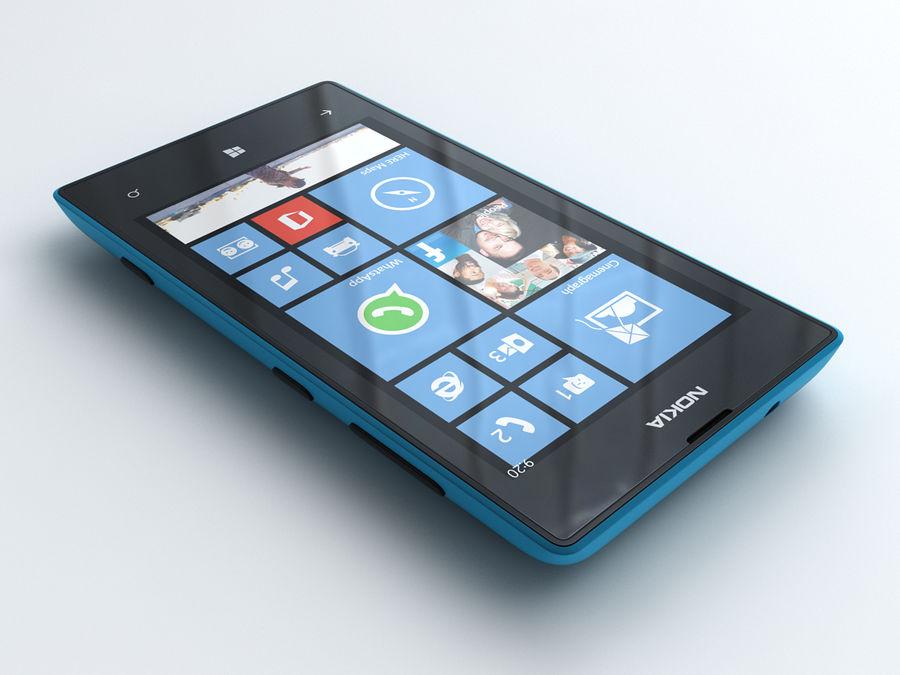 Nokia Lumia 520 royalty-free 3d model - Preview no. 2