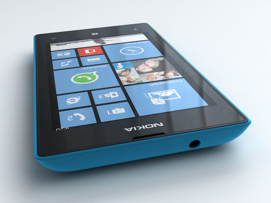 Nokia Lumia 520 royalty-free 3d model - Preview no. 11
