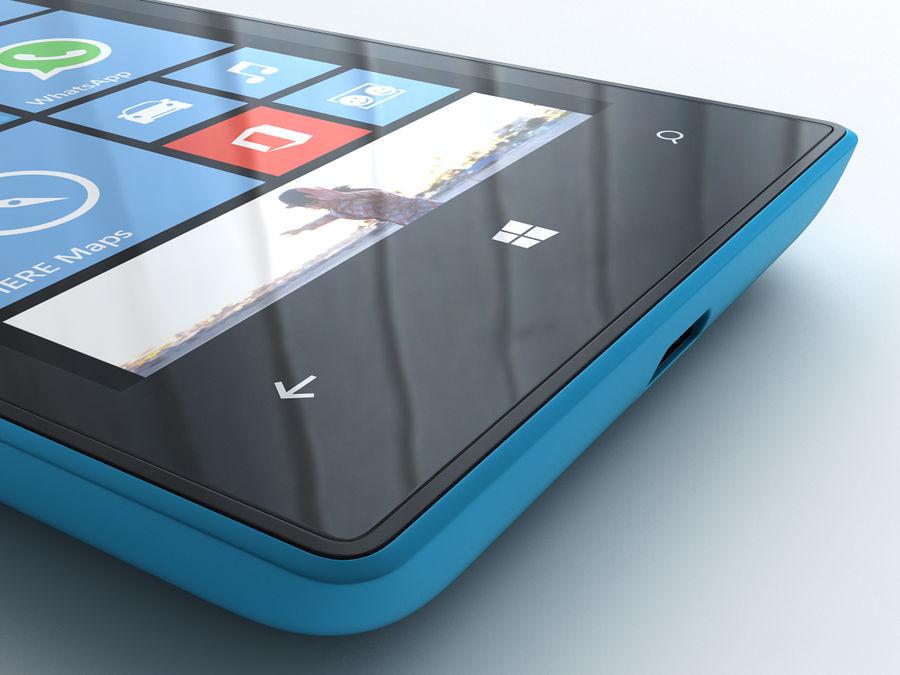 Nokia Lumia 520 royalty-free 3d model - Preview no. 20