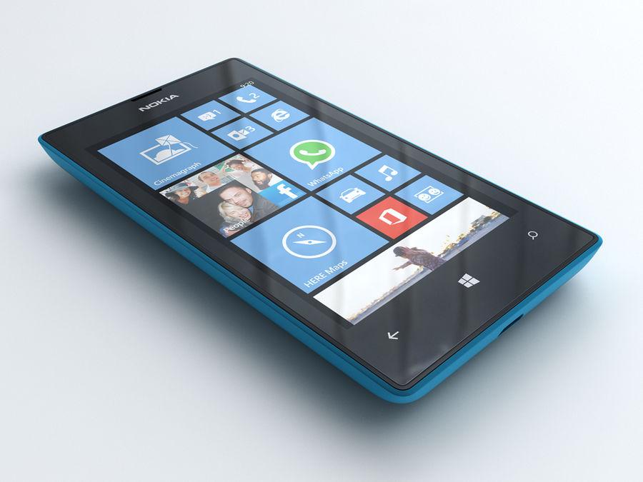 Nokia Lumia 520 royalty-free 3d model - Preview no. 6