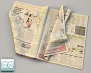 Zeitung Gazzetta dello Sport 4 3d model