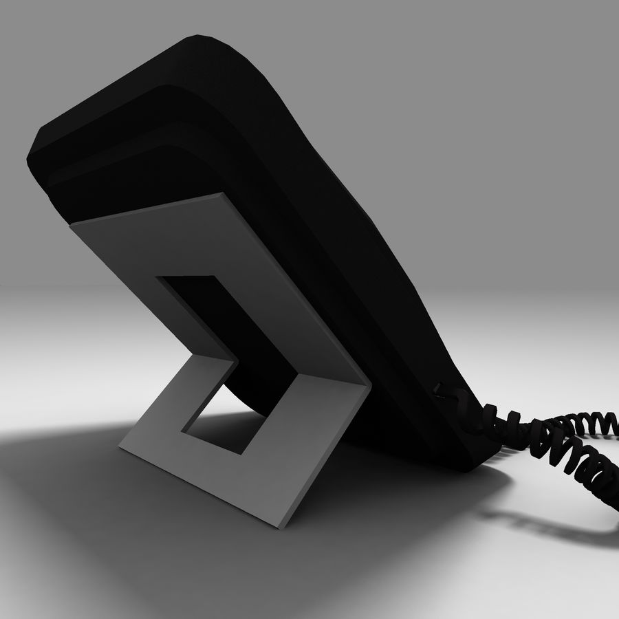 Office Phone royalty-free 3d model - Preview no. 4