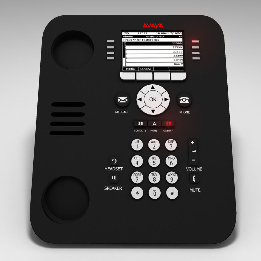 Office Phone royalty-free 3d model - Preview no. 3