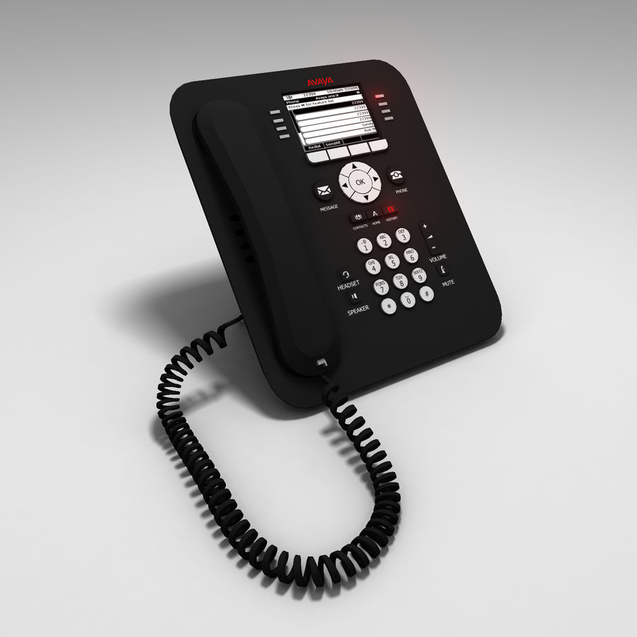 Office Phone royalty-free 3d model - Preview no. 1