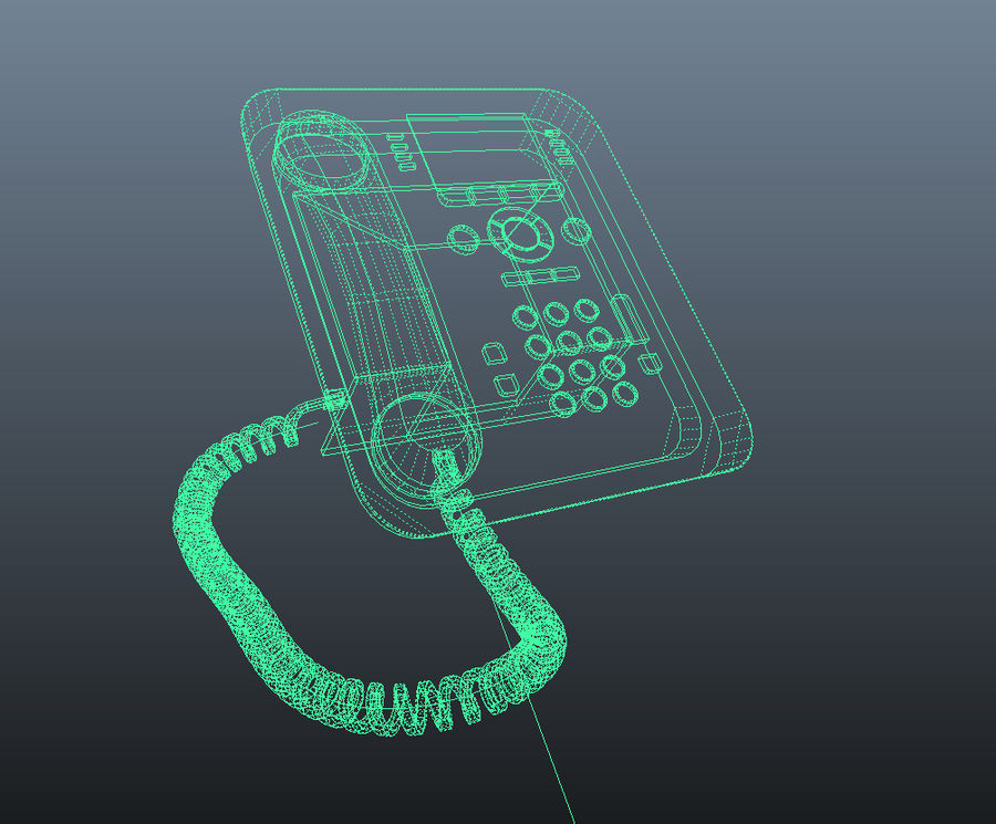 Office Phone royalty-free 3d model - Preview no. 5