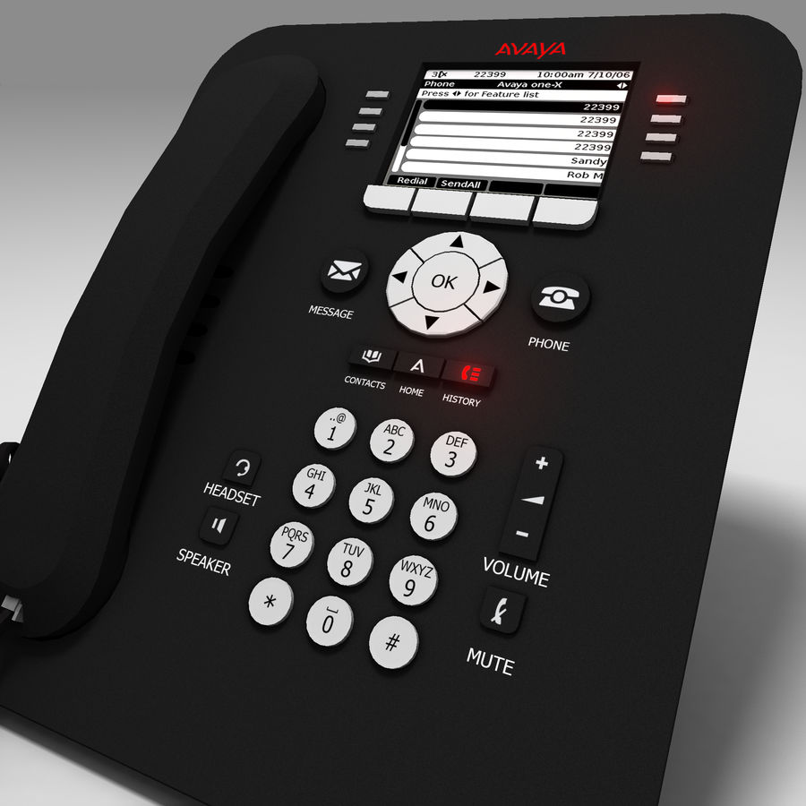 Office Phone royalty-free 3d model - Preview no. 2