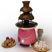 Fonte de chocolate 3d model