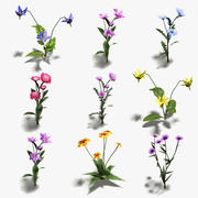 16 Low-Poly Flowers (+ Icons) 3d model