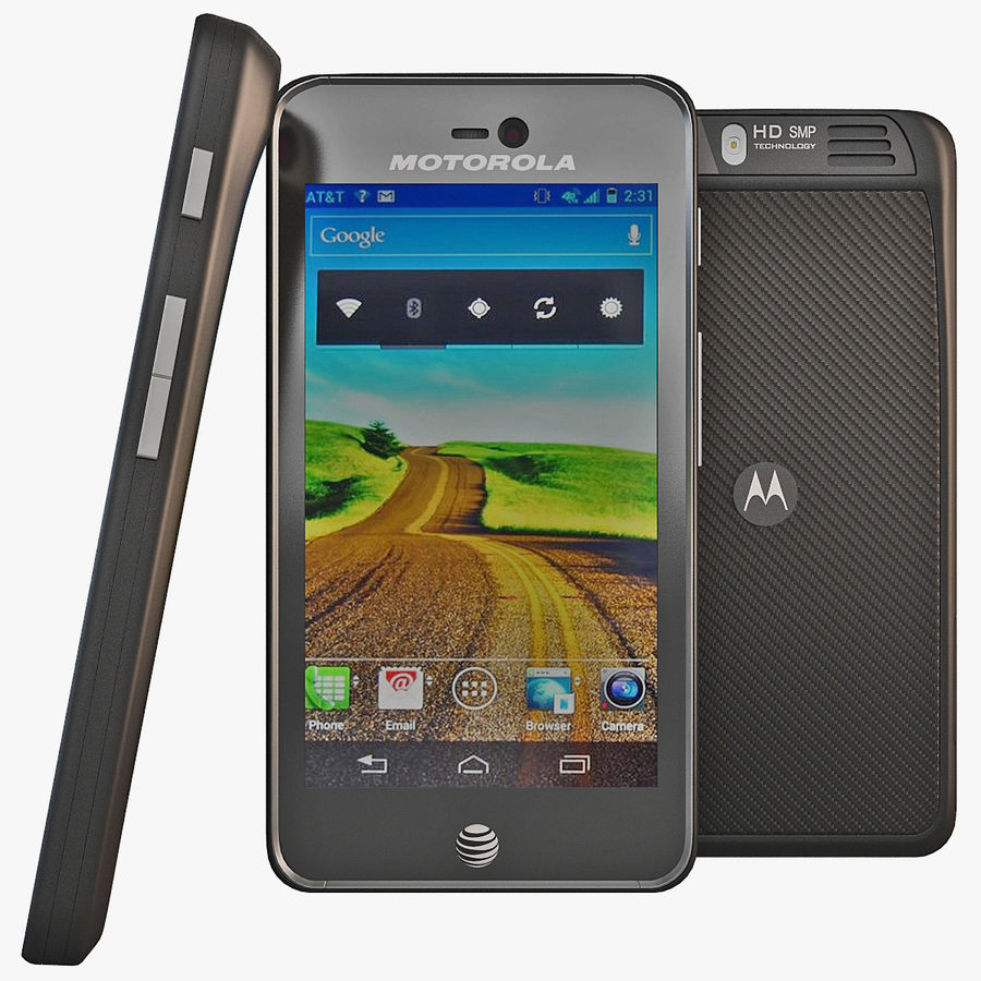 Motorola Atrix HD royalty-free 3d model - Preview no. 1