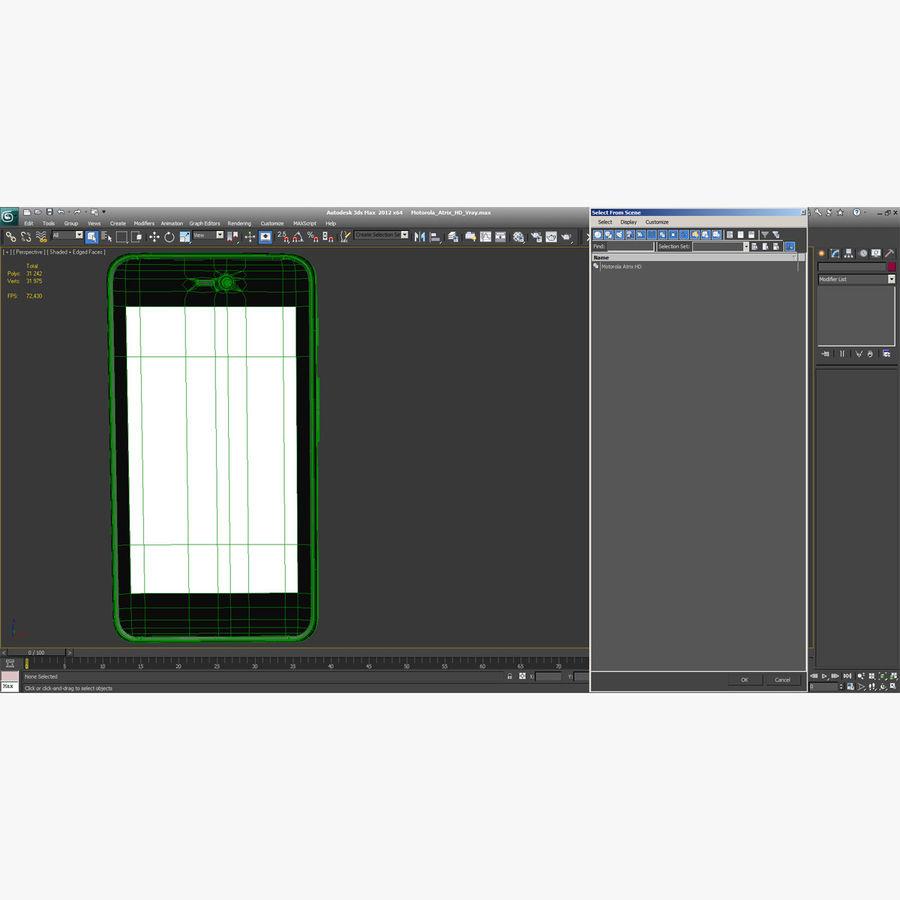 Motorola Atrix HD royalty-free 3d model - Preview no. 18