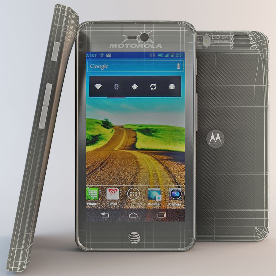 Motorola Atrix HD royalty-free 3d model - Preview no. 3
