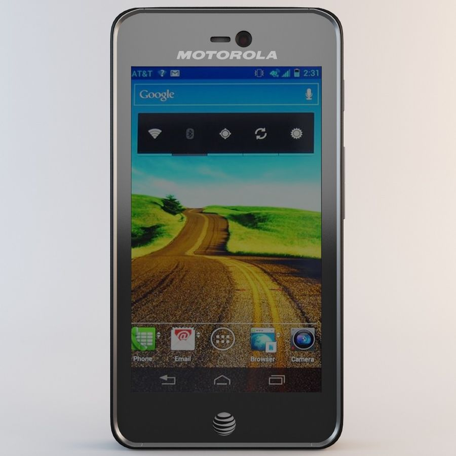 Motorola Atrix HD royalty-free 3d model - Preview no. 4