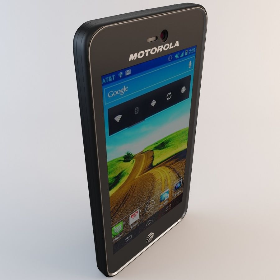 Motorola Atrix HD royalty-free 3d model - Preview no. 10