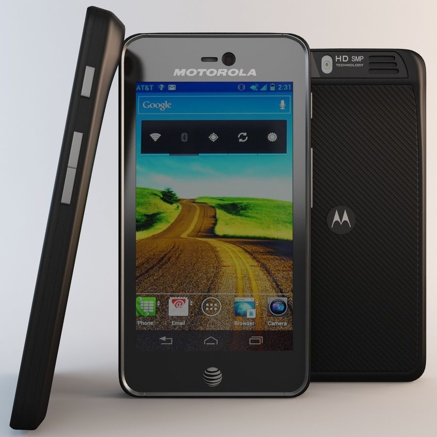 Motorola Atrix HD royalty-free 3d model - Preview no. 2