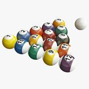 Billiard Balls Set 3d model