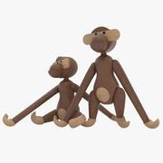 Realistic Wooden Monkey 3d model
