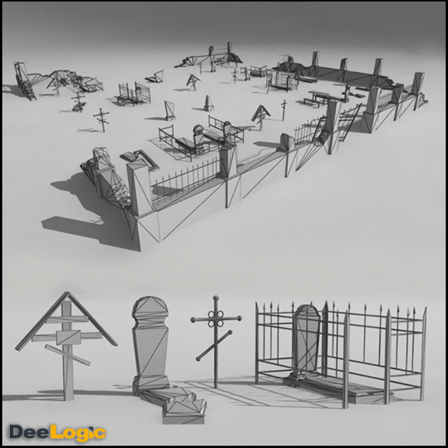 Russian Graveyard royalty-free 3d model - Preview no. 2