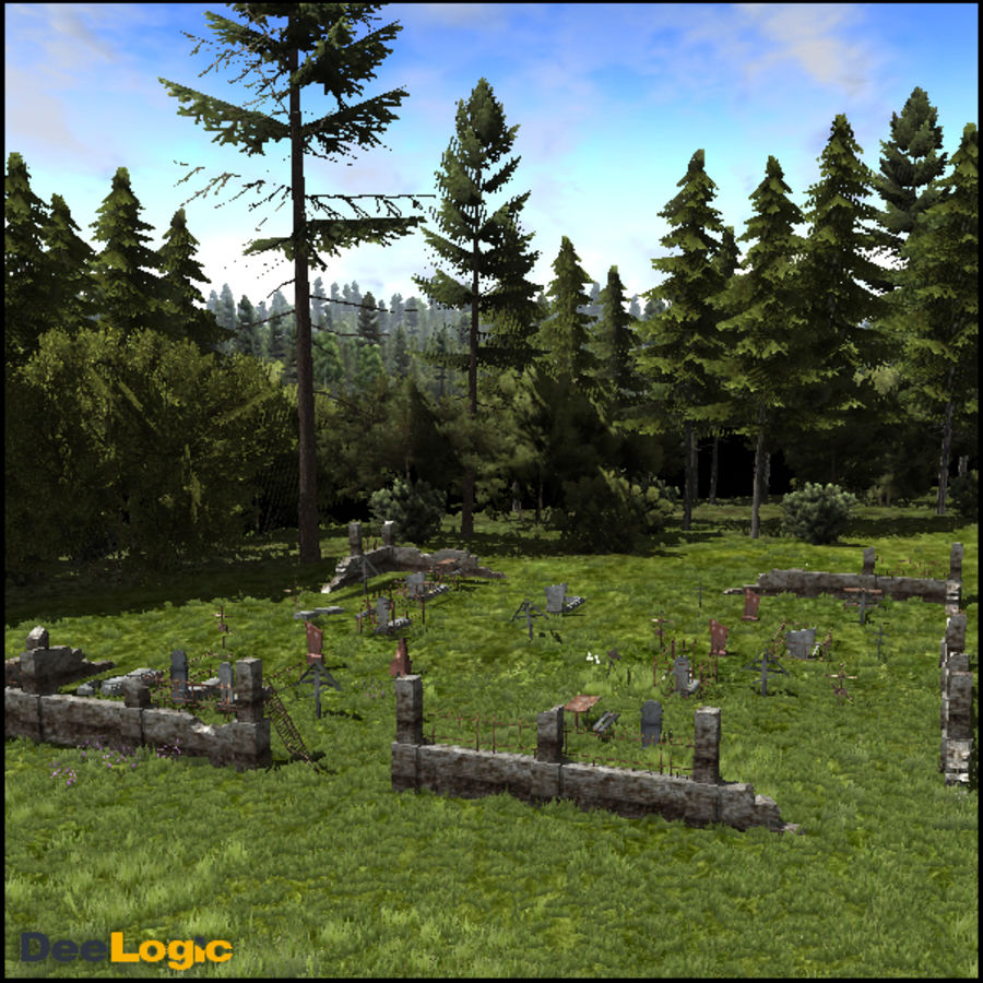 Russian Graveyard royalty-free 3d model - Preview no. 3