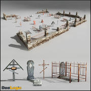 Russischer Friedhof 3d model