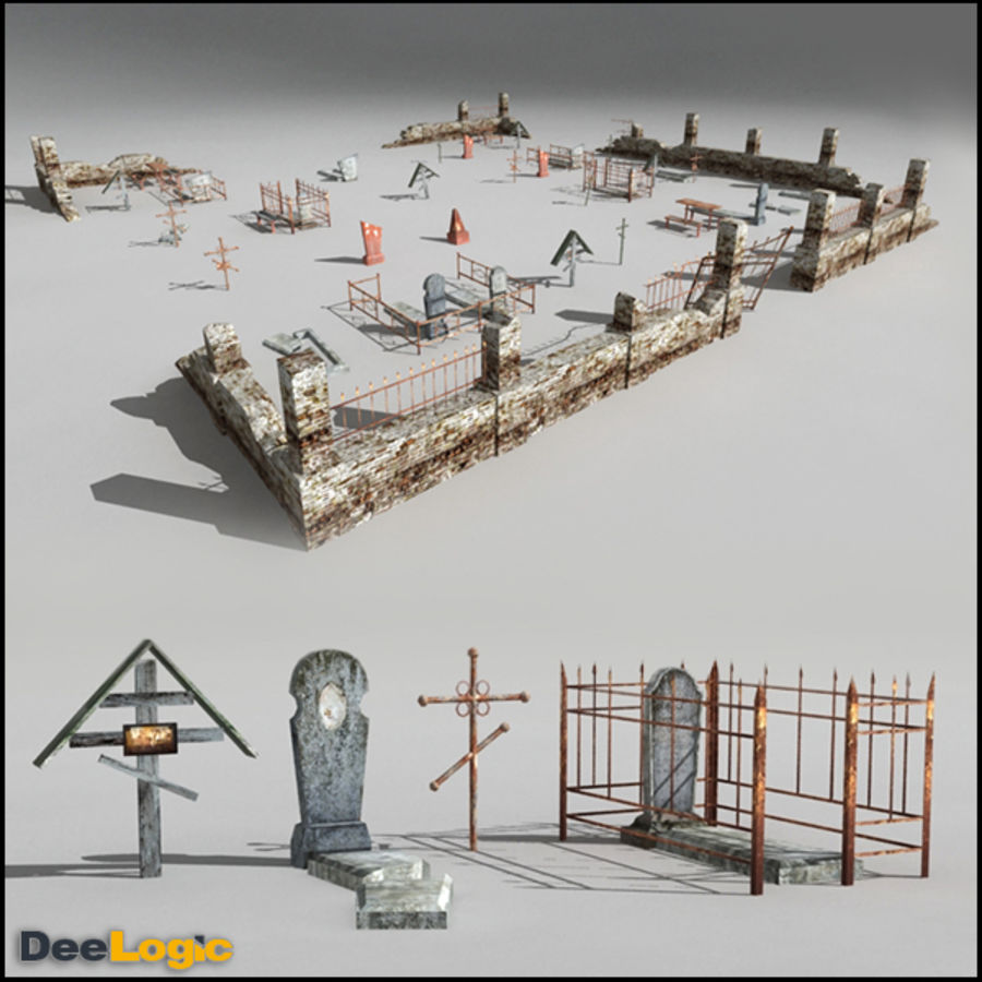 Russian Graveyard royalty-free 3d model - Preview no. 1