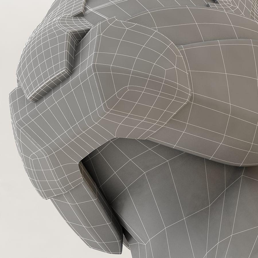 Sci-fi Helmet royalty-free 3d model - Preview no. 15