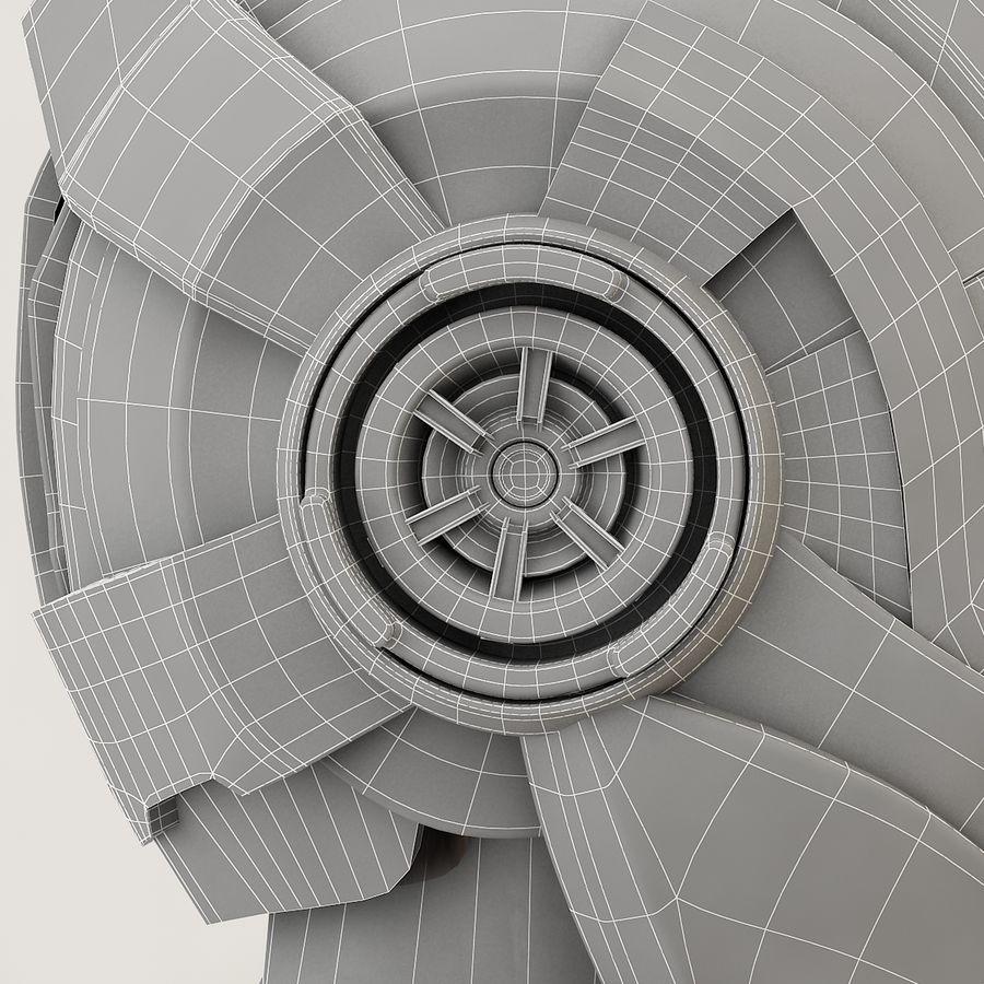 Sci-fi Helmet royalty-free 3d model - Preview no. 13
