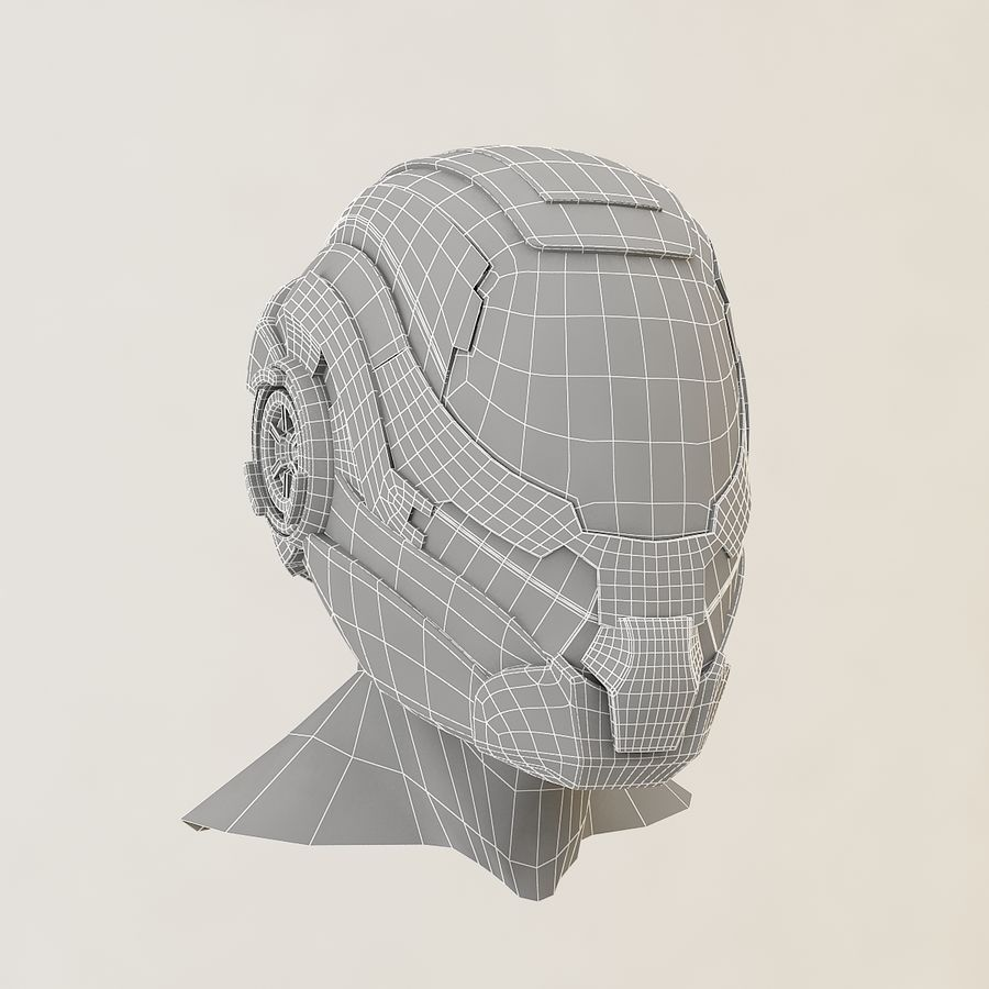 Sci-fi Helmet royalty-free 3d model - Preview no. 9