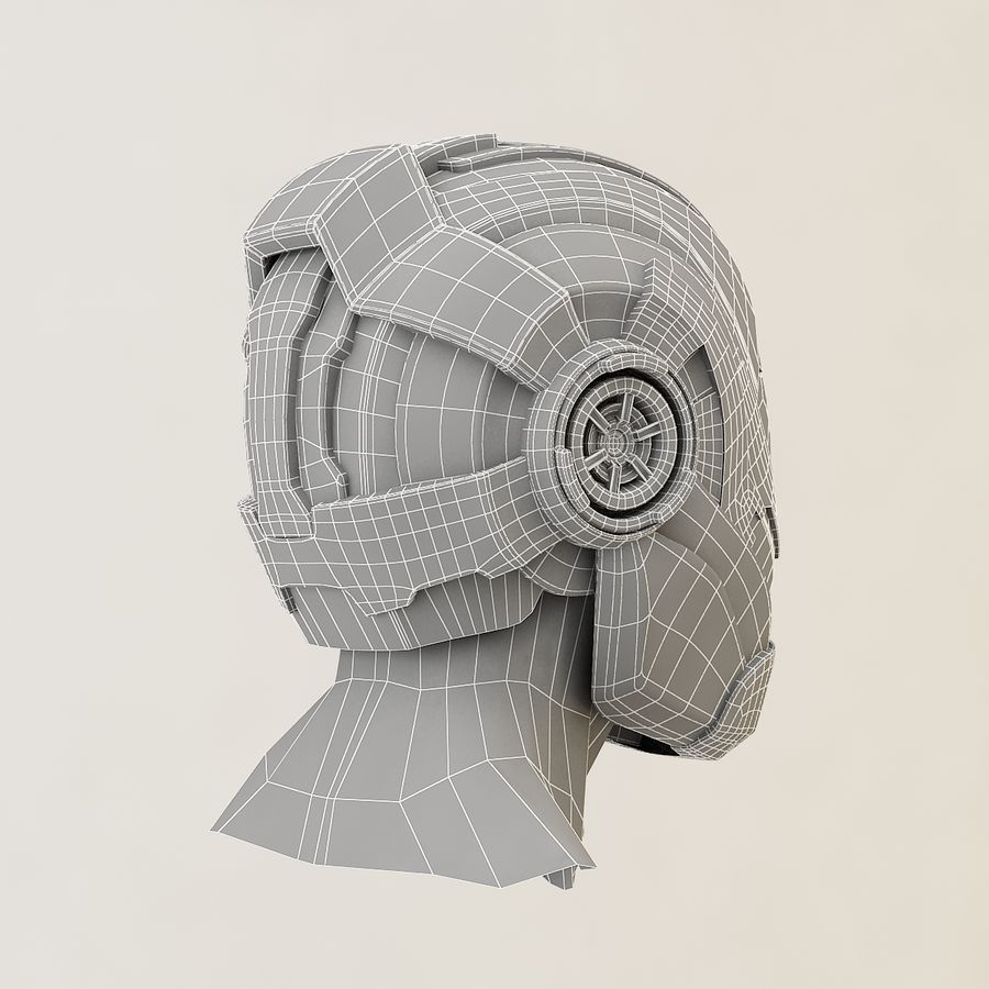 Sci-fi Helmet royalty-free 3d model - Preview no. 12