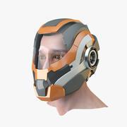 Sci-Fi-Helm 3d model