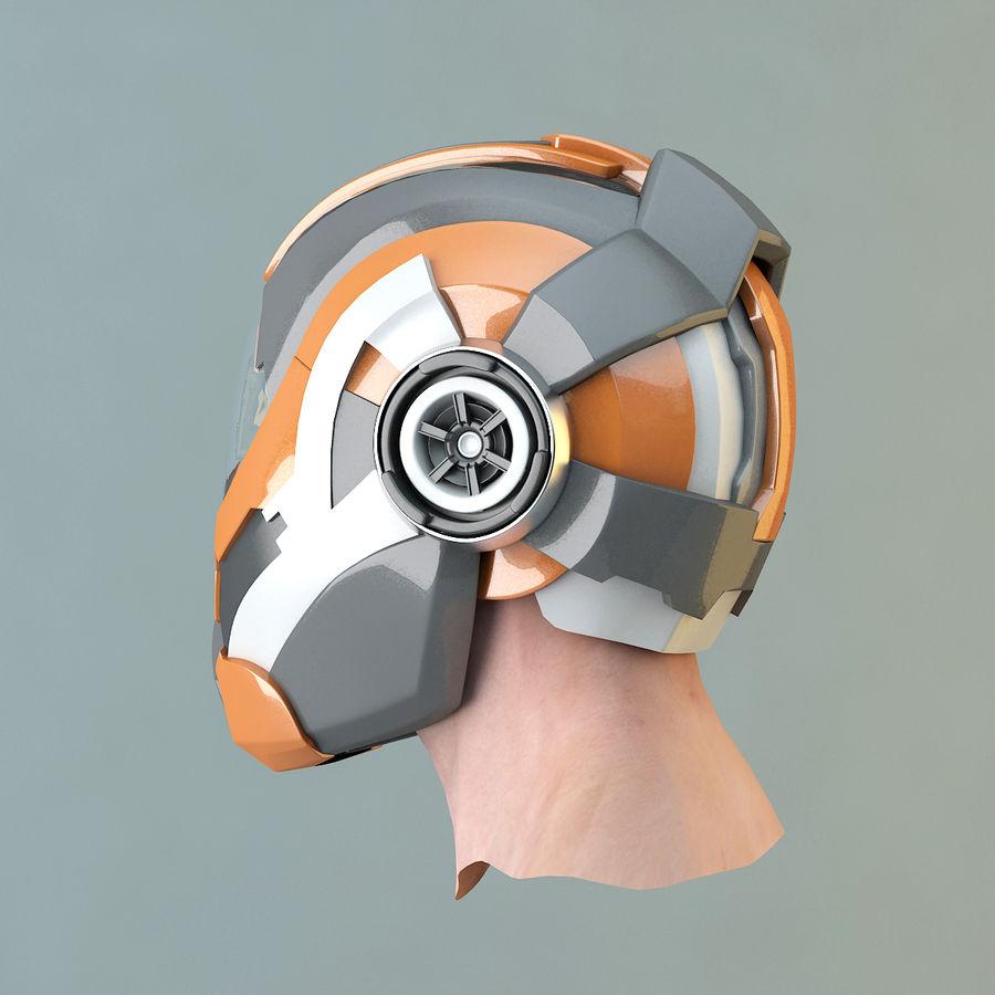 Sci-fi Helmet royalty-free 3d model - Preview no. 6