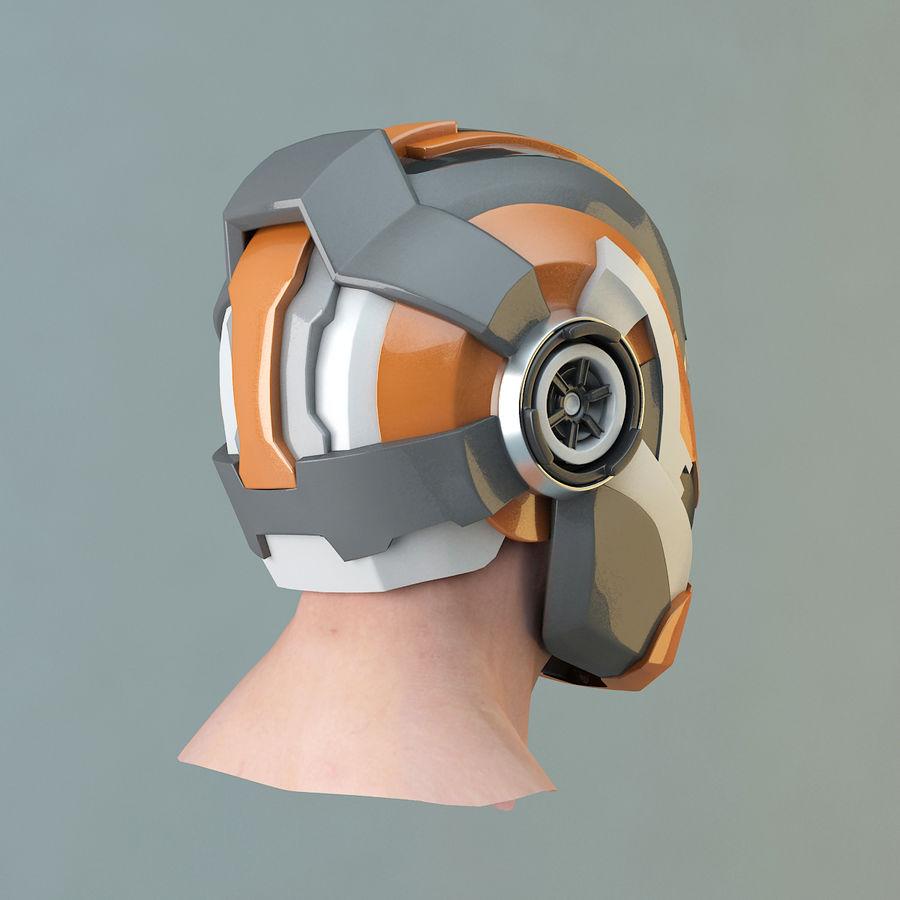 Sci-fi Helmet royalty-free 3d model - Preview no. 5