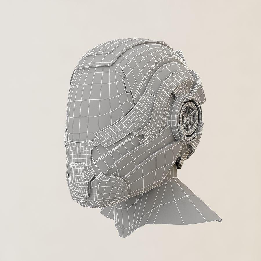 Sci-fi Helmet royalty-free 3d model - Preview no. 10