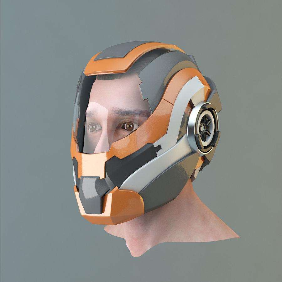 Sci-fi Helmet royalty-free 3d model - Preview no. 2