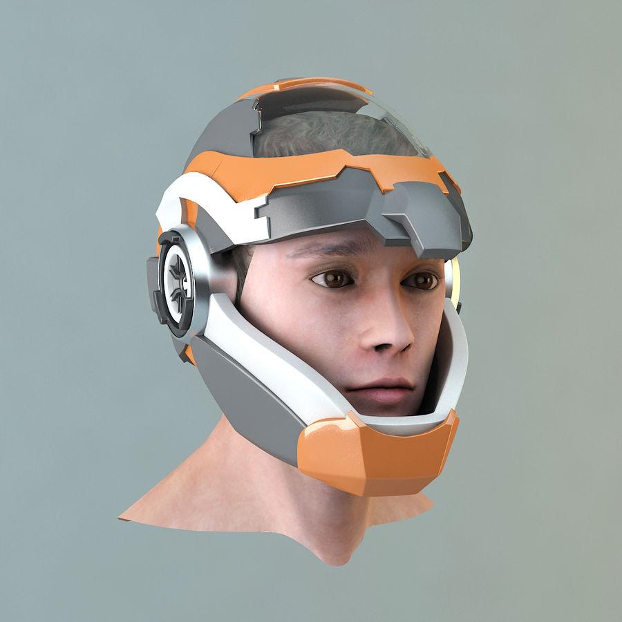 Sci-fi Helmet royalty-free 3d model - Preview no. 7