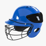 Baseball Batting Helmet With Mask 3d model
