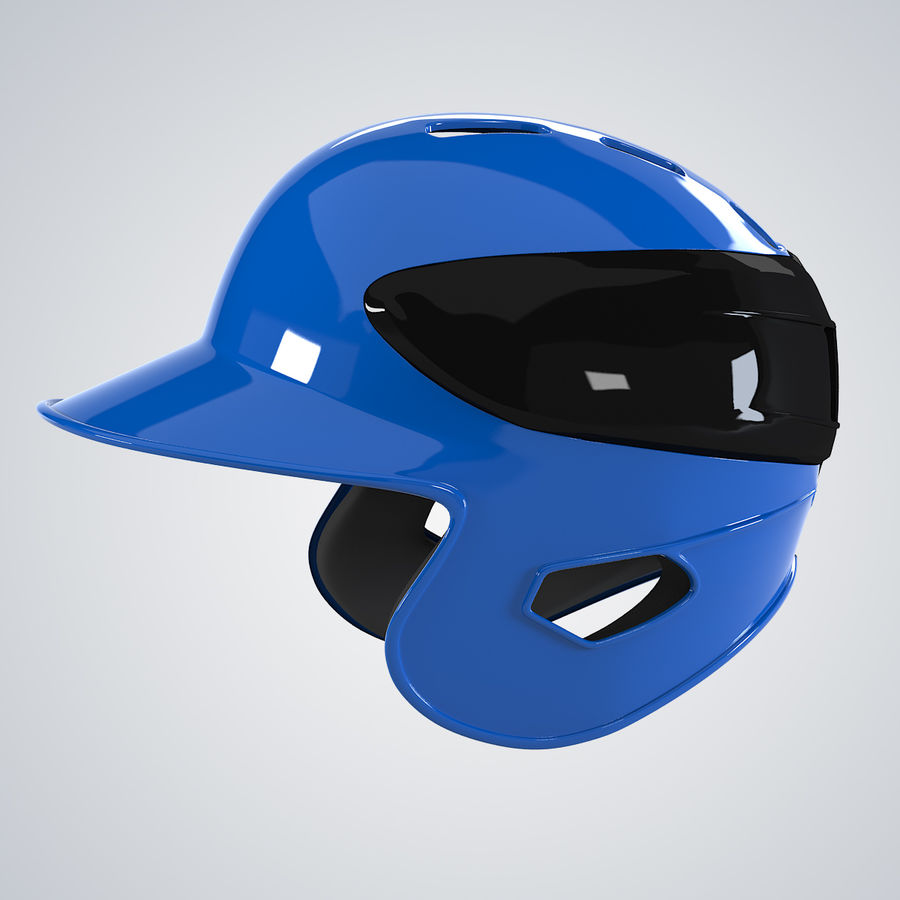 Baseball Helmet royalty-free 3d model - Preview no. 2