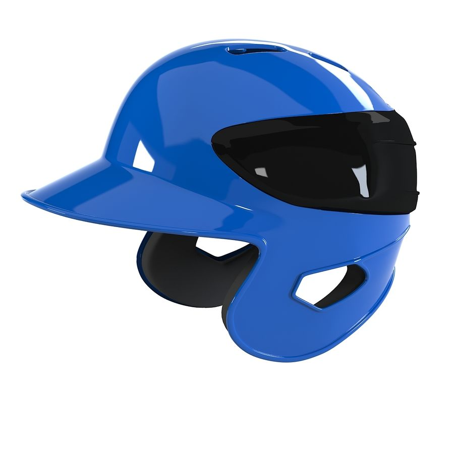 Baseball Helmet royalty-free 3d model - Preview no. 3