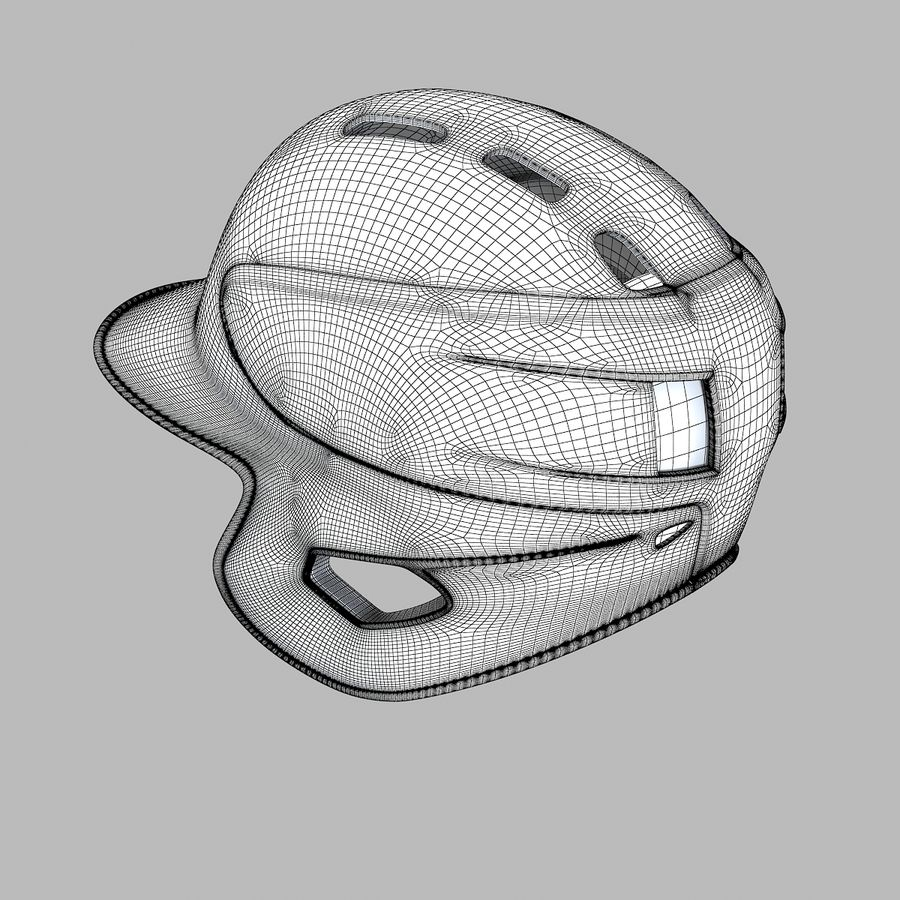 Baseball Helmet royalty-free 3d model - Preview no. 7
