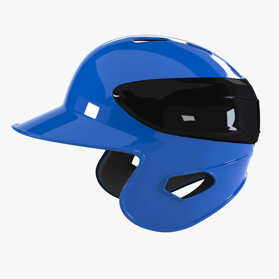Baseball Helmet royalty-free 3d model - Preview no. 1