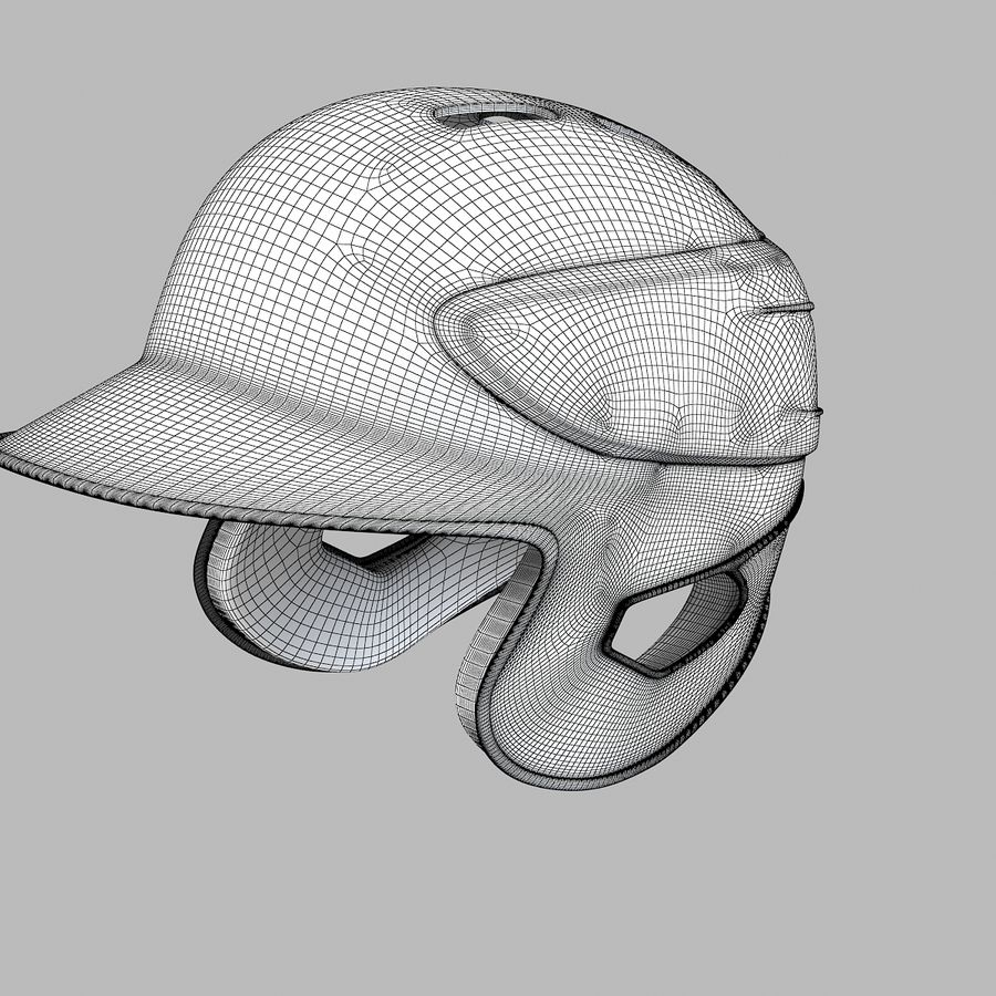 Baseball Helmet royalty-free 3d model - Preview no. 6