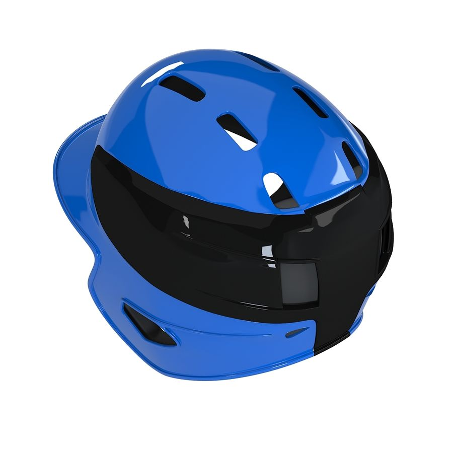 Baseball Helmet royalty-free 3d model - Preview no. 5