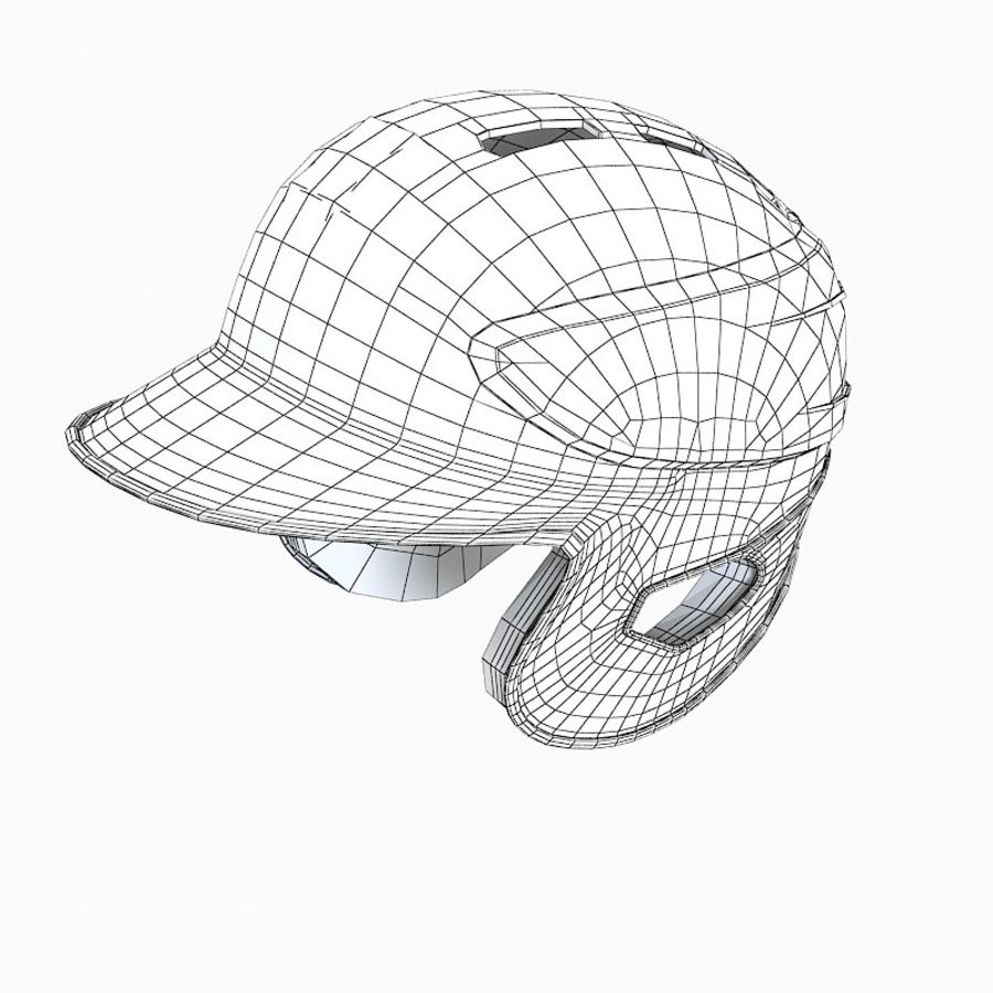 Baseball Helmet royalty-free 3d model - Preview no. 8