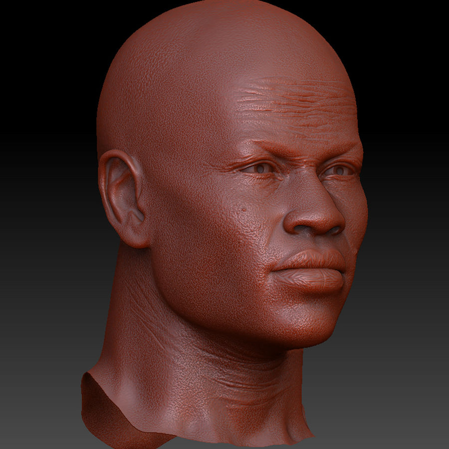 人間の頭(男性) royalty-free 3d model - Preview no. 7