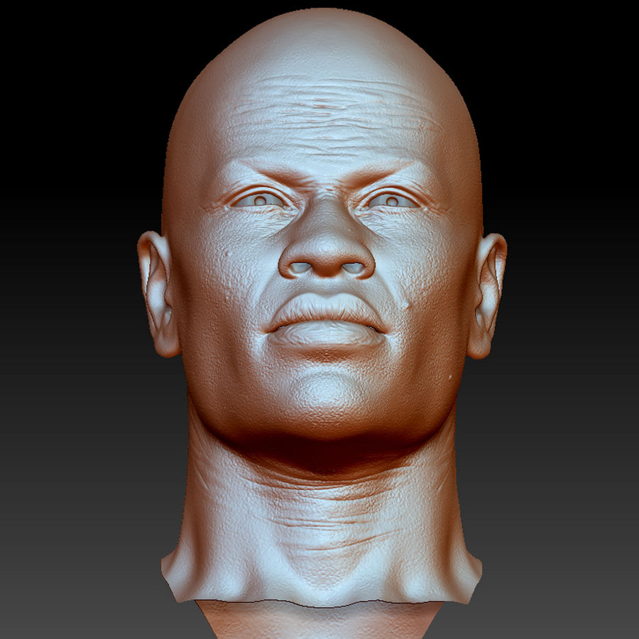 人間の頭(男性) royalty-free 3d model - Preview no. 11