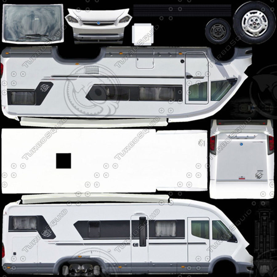 Knaus Sun Liner 2009 royalty-free 3d model - Preview no. 8
