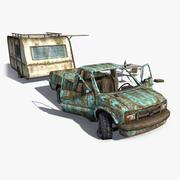 Rusty Trailer Scene 3d model