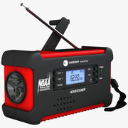 Emergency Solar Digital Radio 3d model