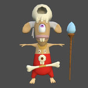 Rigged Cartoon Character Shaman 3d model
